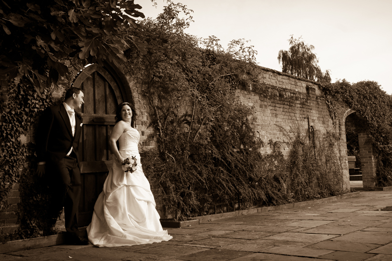sepia-bride-groom-woodhall-manor